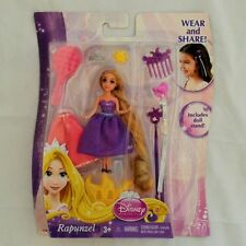NIP Disney Princess Wear and Share Rapunzel Doll and Accessories - Free US Ship