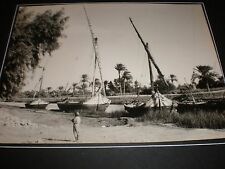 photo Egypt Feluccas Sweet Water Canal Abu Sueir c1940s