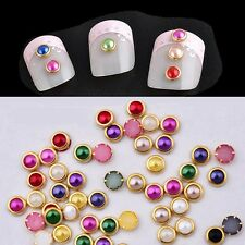 200pcs DIY 3D Nail Art Tips gems Crystal Glitters Rhinestone DIY Cosmetic CND