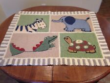 Zanzibar Nursery/Baby Rug - 39 by 29 inches ~ Jungle/Zoo/Safari  Animals