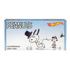 Hot Wheels Peanuts Collector 5 Car Pop Culture Set Sealed NIB