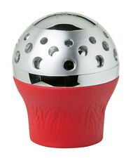 Sumex Lift Up Reverse Genuine Red Leather & Silver Gear Stick Knob - Speedster