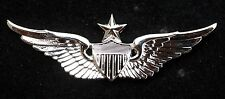 REGULATION US ARMY SENIOR AVIATOR WING BADGE PIN PILOT AIR CORPS FORT CAV WOW