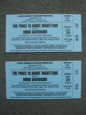 THE PRICE IS RIGHT NIGHTIME STARRING DOUG DAVIDSON 2 ORIGINAL PILOT 1993 TICKETS