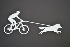 SLED DOG SPIRIT BIKE JOR BIKEJORING HUSKIES SIBERIAN HUSKY STICKER DECAL MUSH
