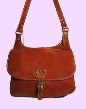 PATRICIA NASH LONDON Tan Italian Leather Shoulder Cross-Body Bag Msrp $199.00