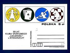 """POLAND - POLONIA - Intero post. - 1984 - 50° Club Sportivo """"LACZNOSC"""" a Bydgoszc"""