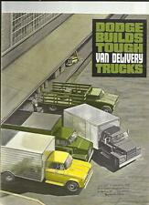 DODGE VAN DELIVERY TRUCKS LORRY TRUCK SALES BROCHURE 1965