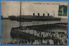 CPA: LE HAVRE - La FRANCE sortant du Port / 1912