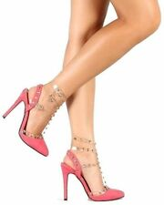 Liliana Coral Suede Pointy toe Pump Studded High Heels Women's shoes US sz.10