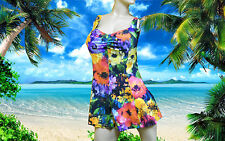 NWT BLUE by GOTTEX Multicolor floral TANKINI DRESS 2 pc BATHING SUIT size - 16