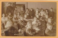 Real Photo Postcard RPPC - Teacher and Students in Classroom - School