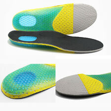 NEW Men Soft Gel Orthotic Foot Running Insoles Insert Shoes Pad Arch Pain Relief