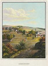 EBERSDORF (SAALBURG-EBERSDORF) - GESAMTANSICHT - kolorierter Stahlstich 1840