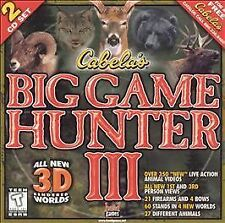 CABELA'S BIG GAME HUNTER III JEWEL CASE (2001) PC CD-ROM NEW & FACTORY SEALED