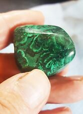 Beautiful vivid green large Malachite Crystal Tumblestone Chakra Healing 50g