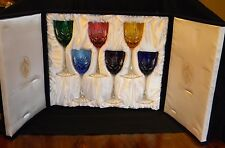 "RARE! COLLECTIBLE!  FABERGE ODESSA 8.75"" GOBLET GLASS COLLECTOR'S SET-SIGNED"