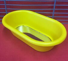 Bird Bath Mirror Interctive Toy Budgie Finch Canary Cockatiel Parakeet 5.5 x 3.5