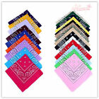 100% Cotton Head Wrap Cotton Dacron Paisley Bandanas Double Sided Scarf