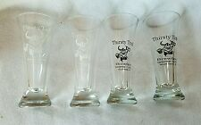 Lot of 4 Thristy Troll Brewfest Beer Glasses 2003- 2006 Mount Horeb Wisconsin
