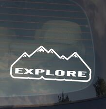"Explore Mountain Decal Sticker 7.5"" Inches Car Truck Off Road Sticker Mod2"