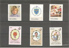 COLLECTION  OF   6 GAMBIA  MINT  STAMPS