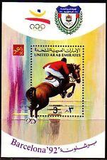 UAE 1992 ** Bl.11 Olympische Sommerspiele | Springreiten Show Jumping