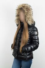 VERY RARE WOMENS MONCLER ARMOISE DOWN JACKET COAT PUFFER FUR CERTILOGO SIZE 2