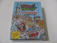 1988 LEAF BASEBALL'S GREATEST GROSSOUTS BOX OF STICKER CARDS & GUM 36 packs