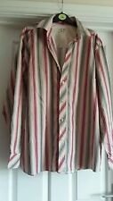 TERRIFIC SPRINGFIELD PINK STRIPED SHIRT SIZE M
