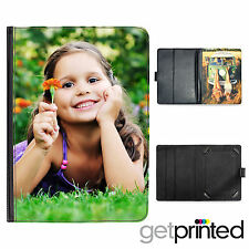 "Personalised Kindle Fire HDX 7"" PU Leather Flip Case Cover Custom Photo Gift"
