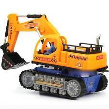 Flashing Wheel Musical Excavator Car Kid Children Truck Tractor Toy Builder Gift