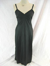 Lovely Sz 10 Jantex Black Silky Nightgown