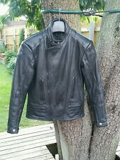 Carapace Black Quality  Leather Motorcycle Jacket.  See listing for measurements