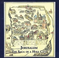 Jerusalem The Saga of the Holy City Hardcover book in great shape w/ maps poster