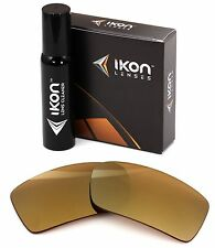 Polarized IKON Iridium Replacement Lenses For Oakley Gascan 24K Gold Mirror