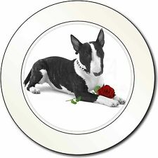 Bull Terrier Dog with Red Rose Car/Van Permit Holder/Tax Disc Gift, AD-BUT2R2T