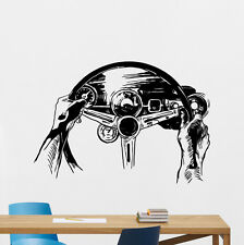 Steering Wheel Wall Decal Rally Racing Car Vinyl Sticker Art Decor Mural 37thn