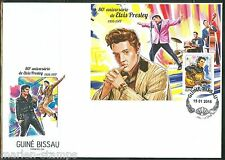 GUINEA BISSAU  2015 80th BIRTH ANNIVERSARY OF ELVIS PRESLEY  S/S FIRST DAY COVER