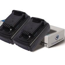 Lot de 2 batteries 18V 1500mAh pour Black et Decker ASL188KB - Sté Française -
