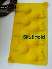 Cake Mold Soap Mold 8-Goldfish Fish Flexible Silicone Mould For Candy Chocolate