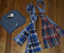 LOT 3 NEW GRAYERS JAPAN JAPANESE SELVEDGE CHAMBRAY WORK SHIRT L & PLAID SCARF