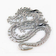 Brand New Car Decor 3D Metal Silver Cool Totem Dragon Sticker Emblem Badge Decal