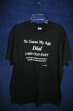 VTG '90s To guess my age dial 1-900-OLD-FART black novelty t shirt XL
