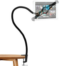Universal Long Arm Tablet Stand 360-degree Rotating Clip-on Mount (Black)