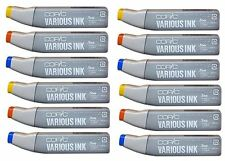 COPIC VARIOUS INK REFILL - 12 PACK - PICK YOUR COLOURS! FILL CIAO + SKETCH