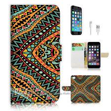 iPhone 7 (4.7') Flip Wallet Case Cover P1828 Aztec Pattern