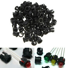 100X Black Plastic 5mm LED Clip Holder Display Panel Bezels Cup Mount Cases