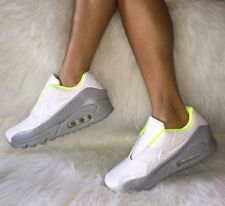 nike sacai x air max 90 womens shoes size 7 white grey volt $175 leather
