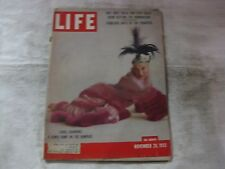 Life Magazine November 28th 1955 Carol Channing Comic Published By Time    mg567